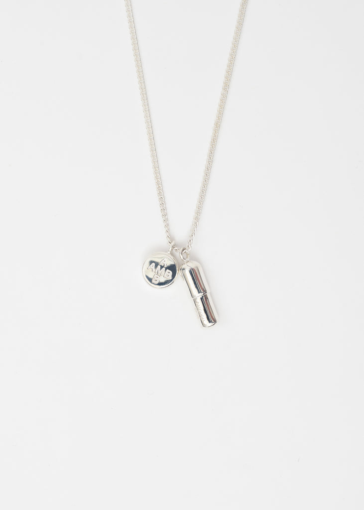 Silver Pill Charm Necklace