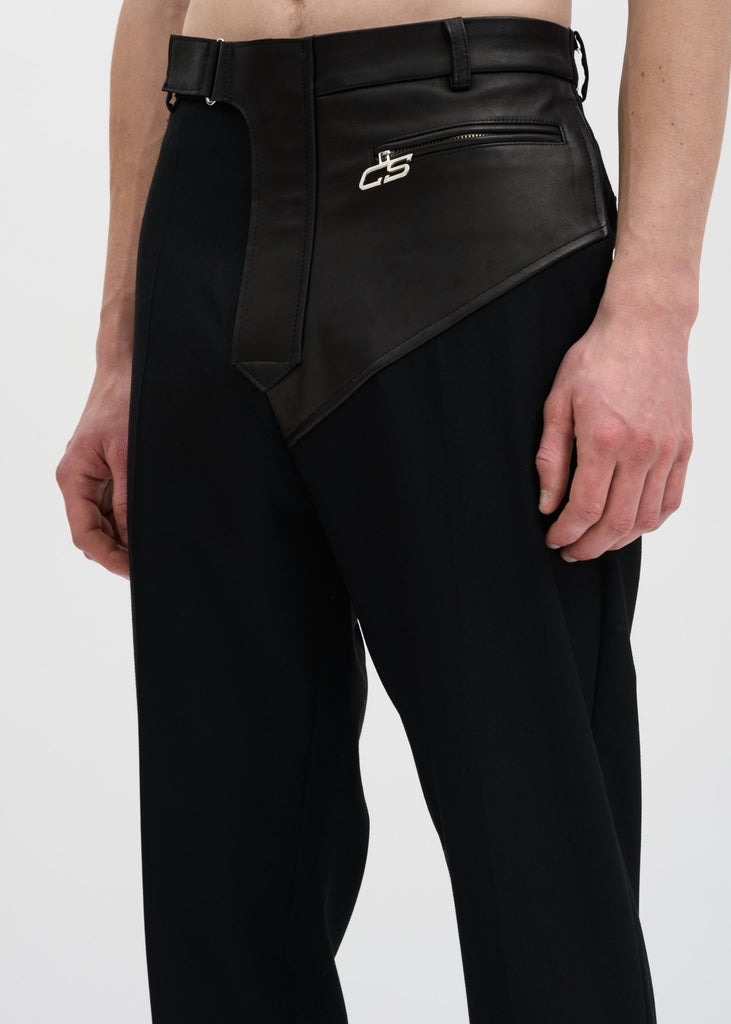 Black Samson Moto Leather Trouser