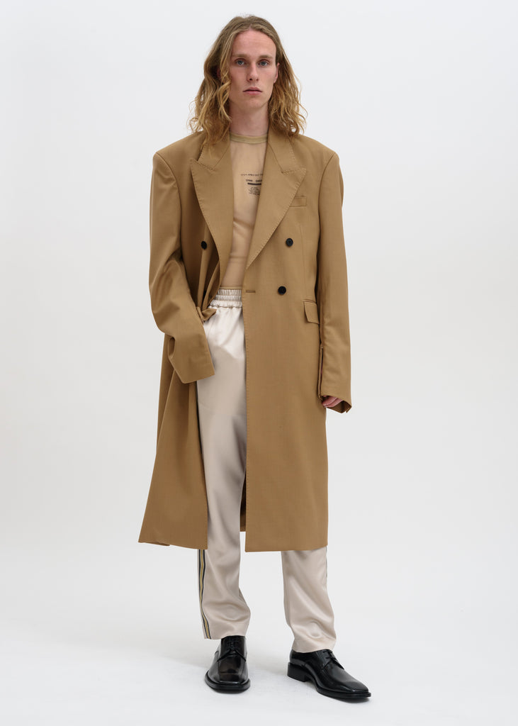 Camel Emil Double Breasted Coat