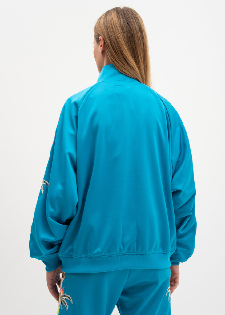 Light Blue Chaos Embroidery Track Jacket