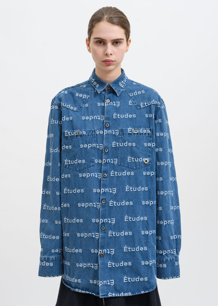 Blue Nevada Jacquard Etudes Shirt
