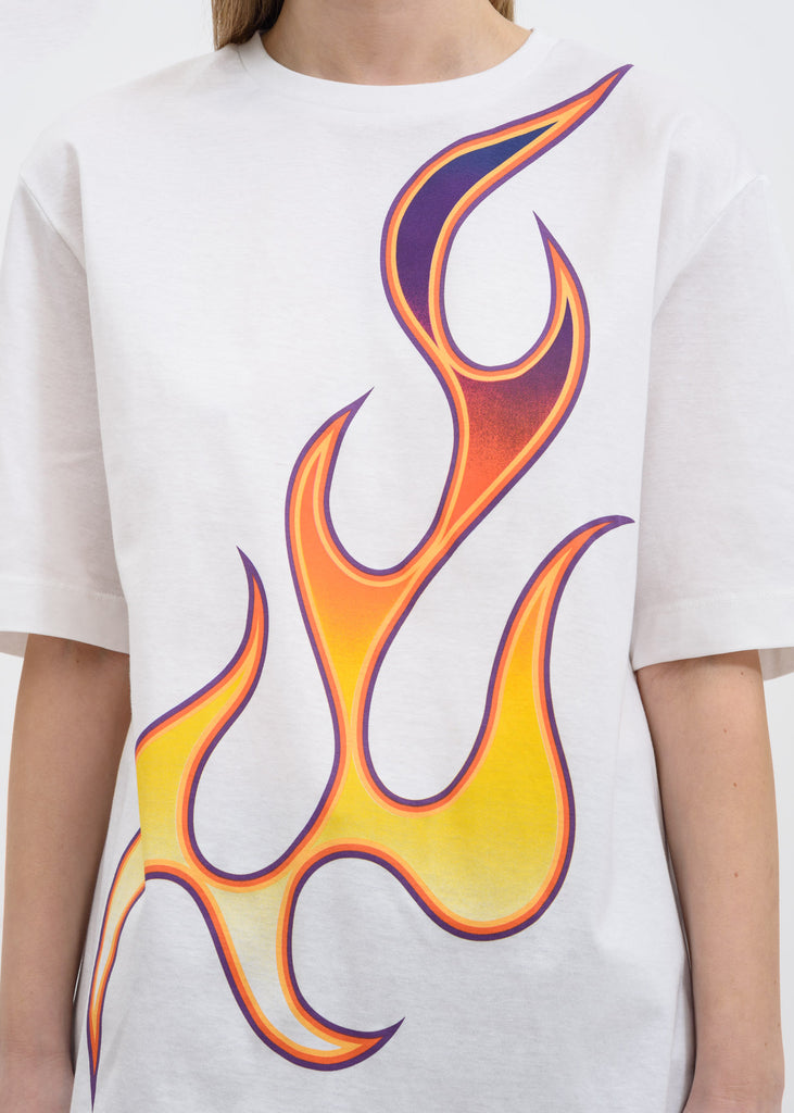 White Unity Flaming T-Shirt