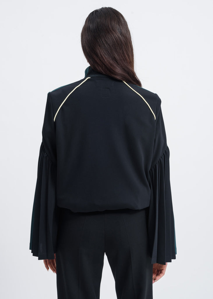 Black Flared Detail Track Jacket