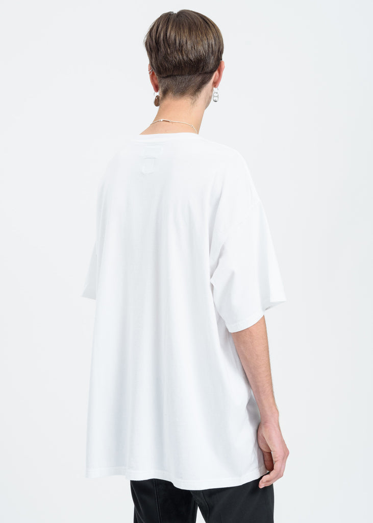 White Block Logo Oversized T-Shirt