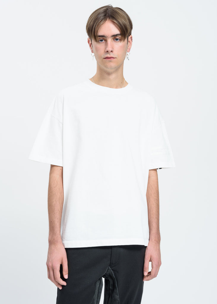White Paneled T-Shirt