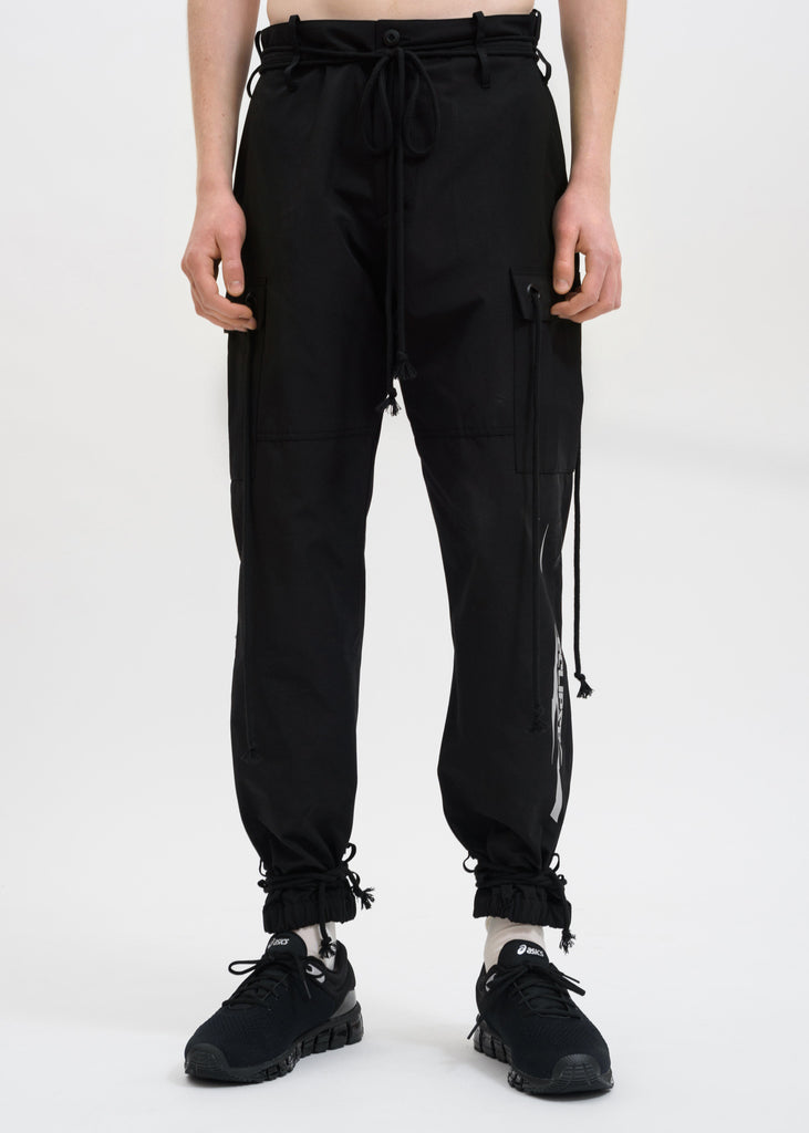 "Black ""Eclipse"" Cargo Pants"
