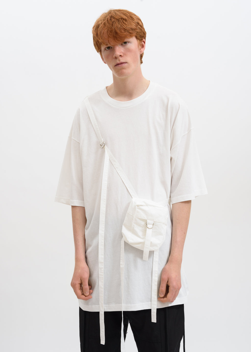 White Oversized T-Shirt w/ Bag
