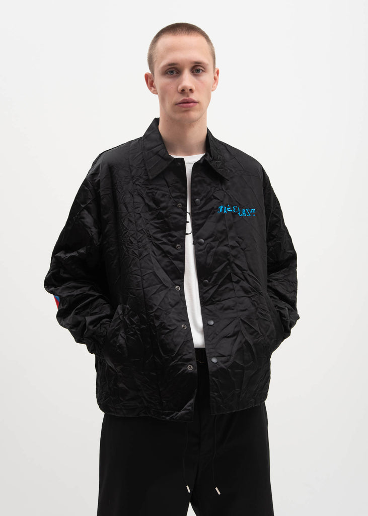 Black Taping Coach Jacket