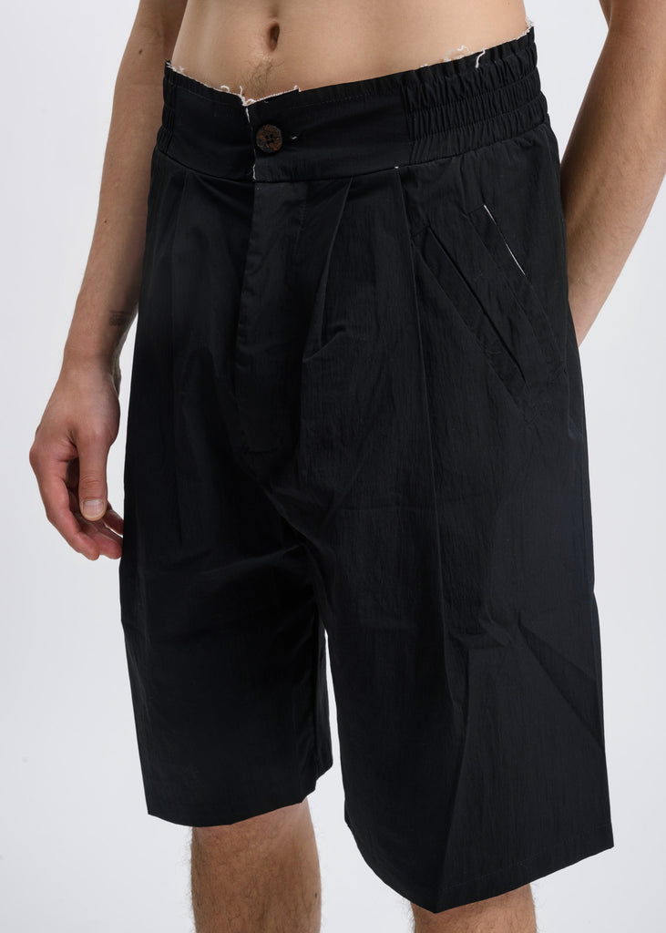 Black Nylon Trousers