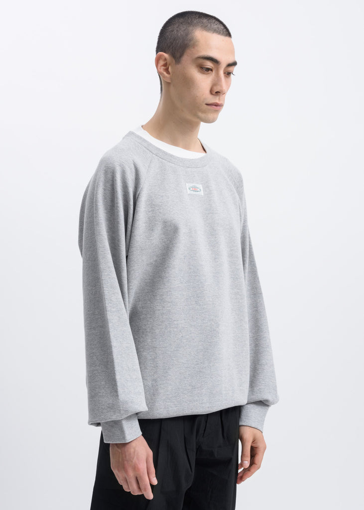 Grey Layered Logo Patch Sweater