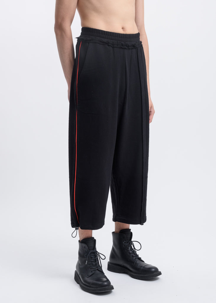 Black Wide Leg Pants w/ Red Piping