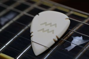 Ivory Horn Bone Guitar Pick Custom Engraved Plectrum