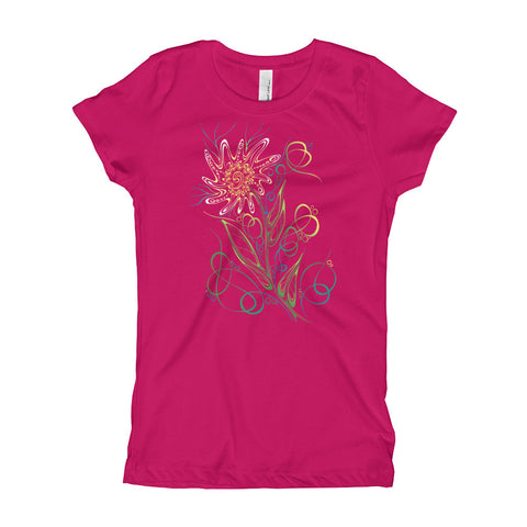 Uncharted Ink Girl's Tee in Daisy Gone Wild