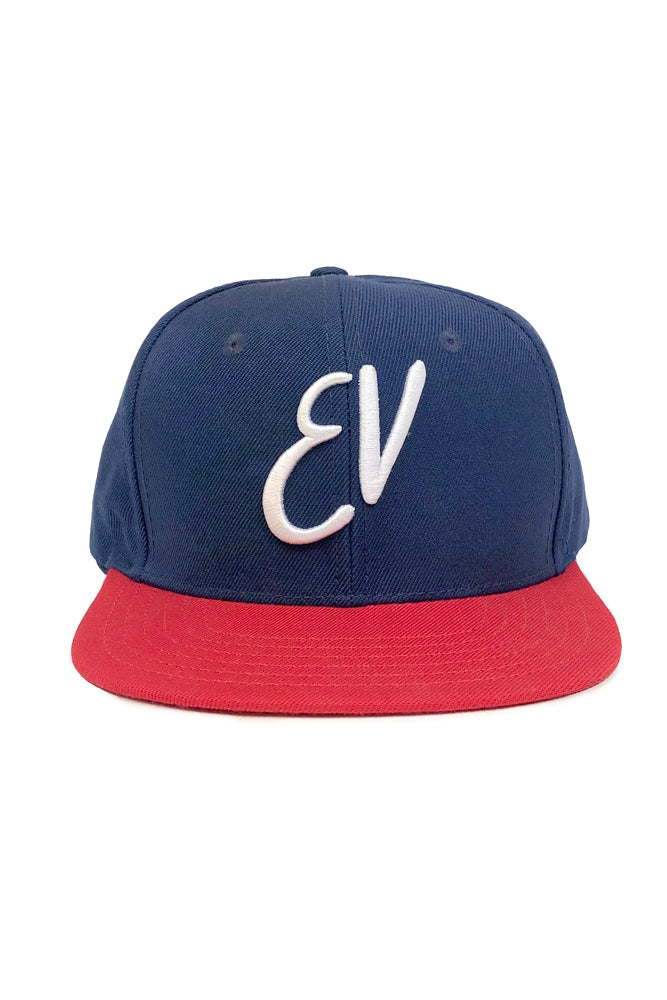 Eddie Vedder Snapback Hat Navy Red