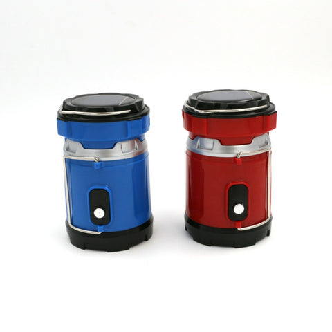 High Quality 2 Mode LED Solar/Rechargeable Collapsible Camping Lanterns