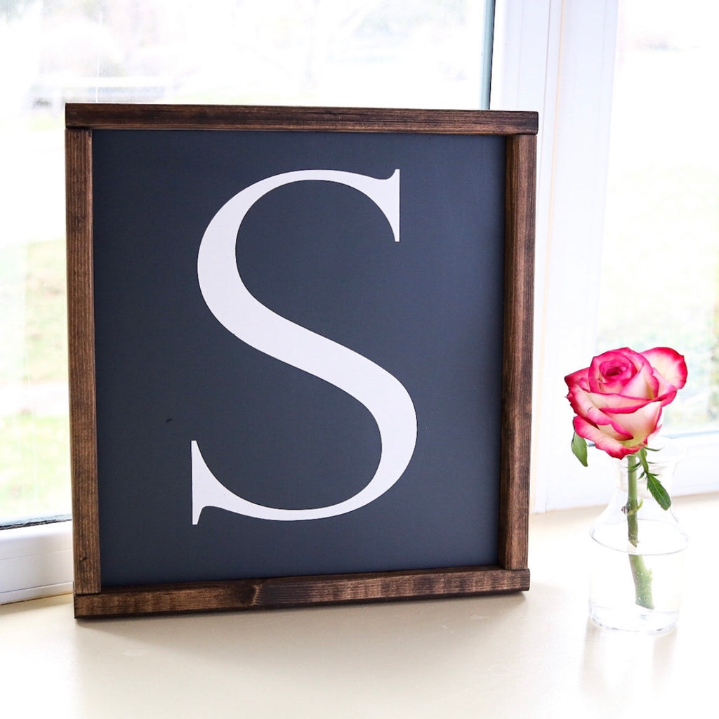 Custom initial monogram sign