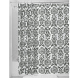 DAMASK SHOWER CURTAIN  CHARCOAL
