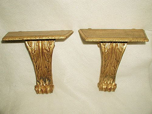 Italian corbels shelves gilt wooden early 1900's