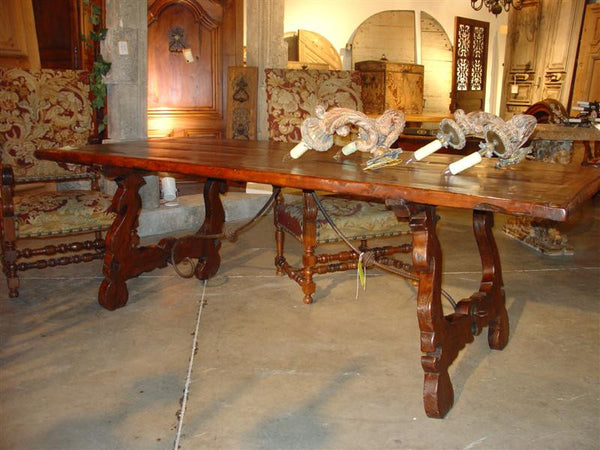 Catalane Dining Table, Chestnut Wood