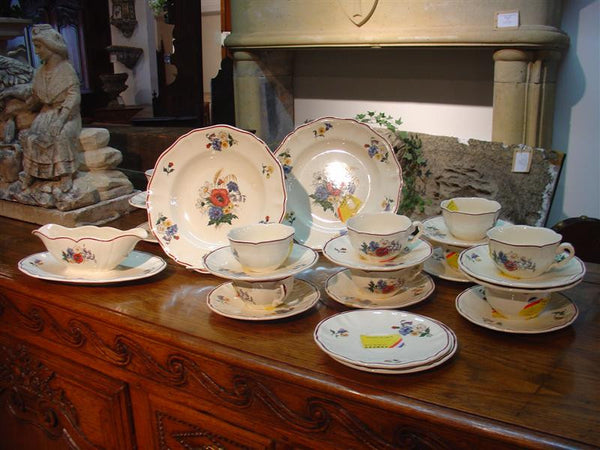 19th Century French Hotel Tableware by Sarreguemines