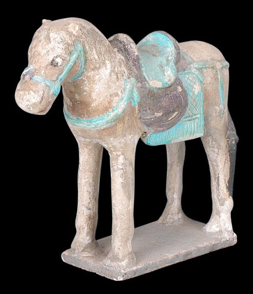 Chinese Ming Dynasty Painted Pottery Horse