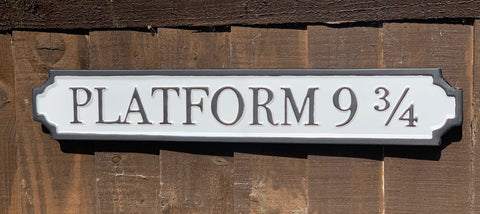 Platform 9 3/4 - Harry Potter Metal Road Sign