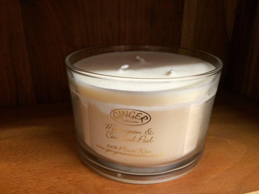 Scented Candle 3 Wick - Christmas - Marzipan & Candied Peel