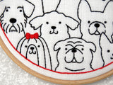 Dogs Embroidery Kit, Dog Lover Embroidery, Easy Needlework Kit, Beginners Embroidery
