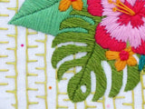 Tropical Flowers Embroidery Pattern, Hibiscus Embroidery Pattern, Modern Hand Embroidery, Tropical Hoop Art, Floral Embroidery Pattern