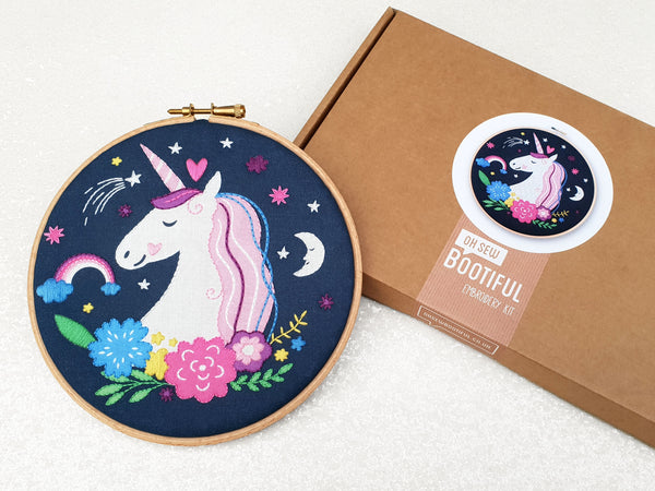Unicorn Embroidery Kit, Fantasy Embroidery Kit, Kids Embroidery Kit, Childrens Embroidery Kit, Easy Embroidery Kit, Beginners Embroidery Kit