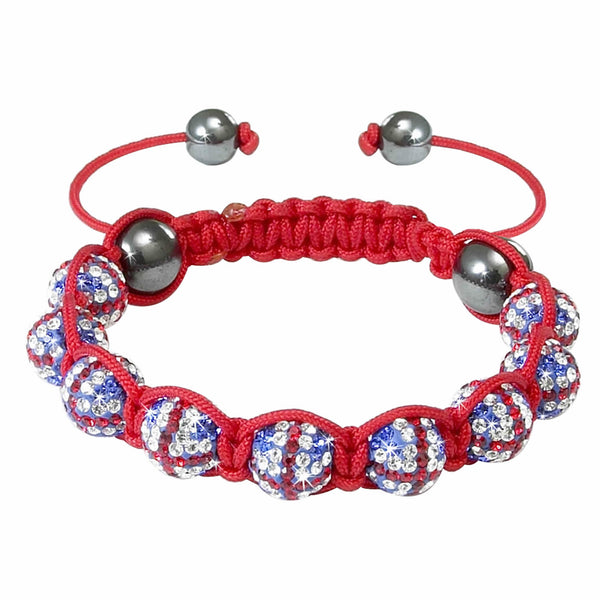 Union Jack Crystal Bracelet