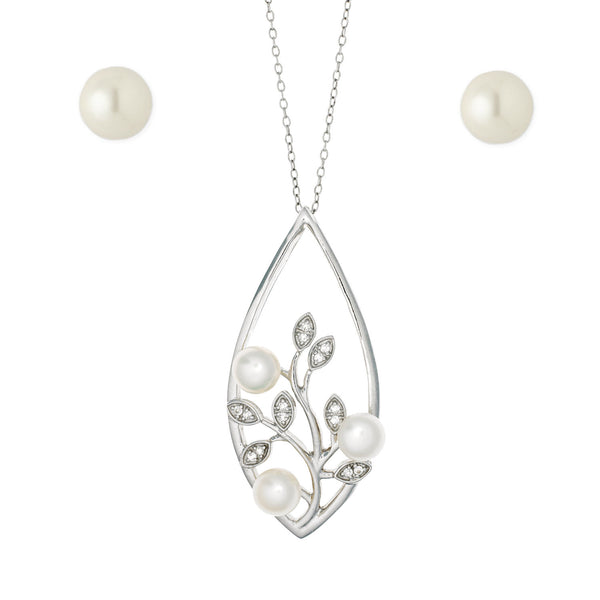 Pearl Bouquet <BR/>Pendant, Earrings and<br/>Bracelet Set