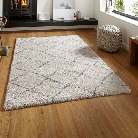 Think Rugs Royal Nomadic 5413 | Modern Cream & Grey Rugs | 120cm x 170cm