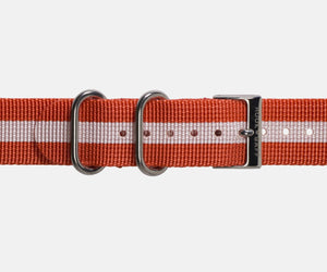 Red and White G10 Nylon Watch Strap