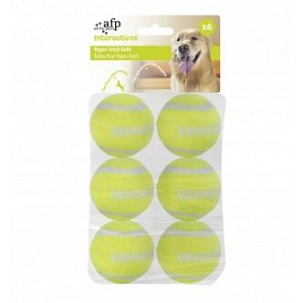 INTERACTIVE HYPER FETCH TENNIS BALLS - 6 Per PACK - The Happy Dolphin Pets