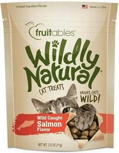 Fruitables Wildly Natural Cat Treats - Salmon Flavor (71g) - The Happy Dolphin Pets