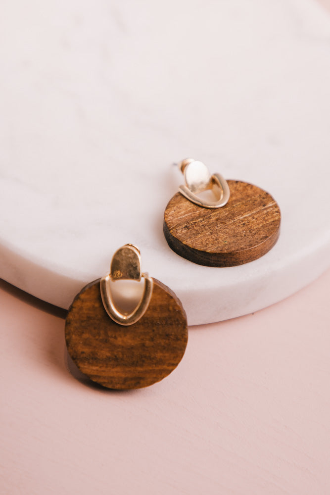 Wood Earrings Bohme