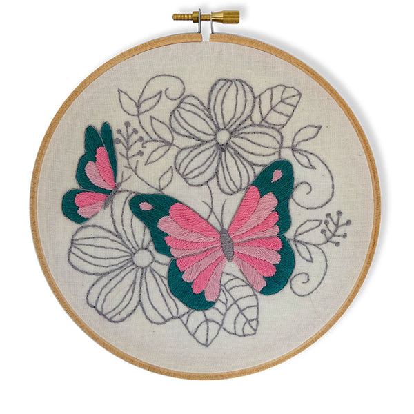 Free Project - Butterflies Embroidery