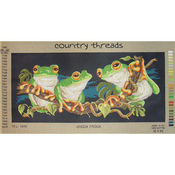 TFJ-1010 Green Frogs Tapestry