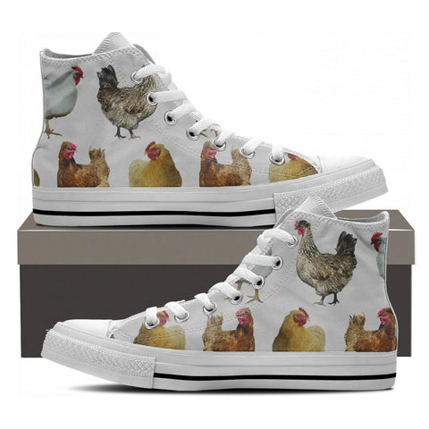 CHICKEN HIGHTOP SHOES WHITE