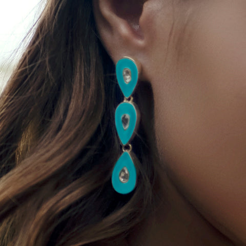 Havana Nights Earrings Turquoise