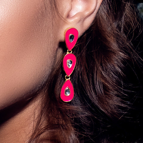 Havana Nights Earrings Hot Pink
