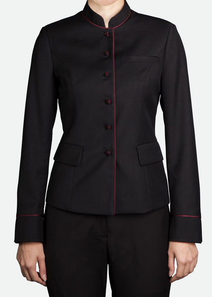 FBZ017 Women's Banquet Jacket with Mandarin Collar
