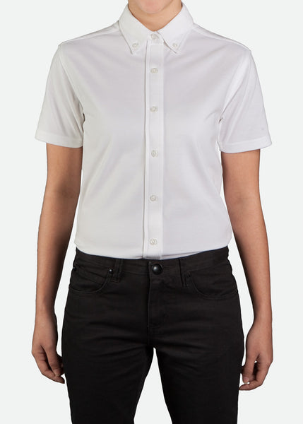 FPL002 Women's Easy-Care Short Sleeve Pique Shirt [ CLEAR STOCKS ]