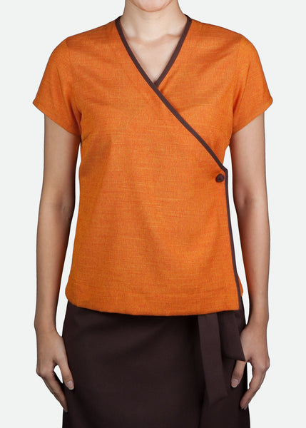 FST003 Women's Cap Sleeve V-Neck Blouse