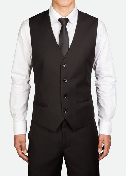 MVS001 Men's Classic Four-Button Vest With Back Buckle
