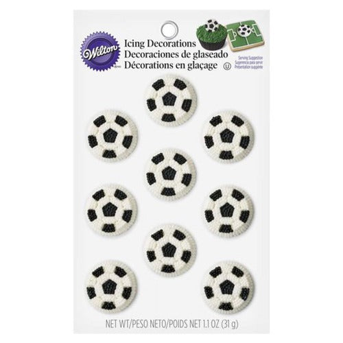 ICING DECORATIONS - SOCCER BALL