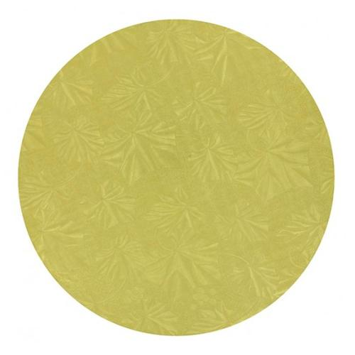 Round Gold Cake Drum 1/2'' Thick