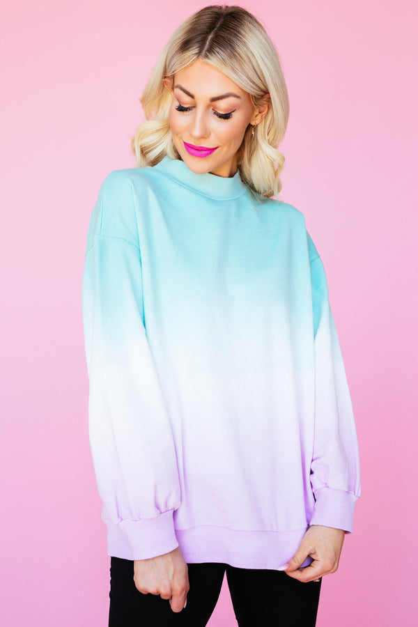 Cotton Candy Mockneck Pullover