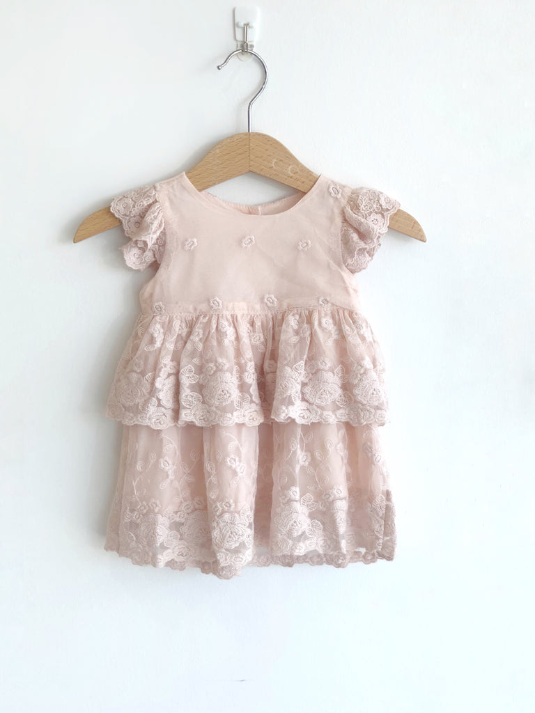 Blossom Baby Lace Dress - Pink